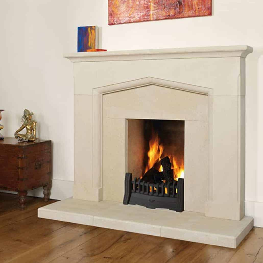 Artisan Nera Small Honed Sandstone Fireplace Artisan