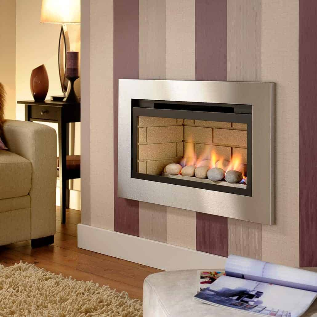 Artisan Boston Glass Fronted Gas Fire Artisan Fireplace