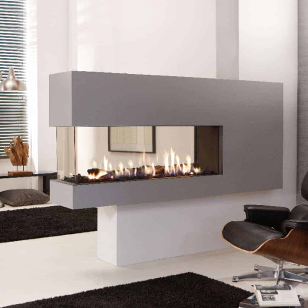 Artisan Lucius 140 3 Sided Glass Gas Fire Artisan