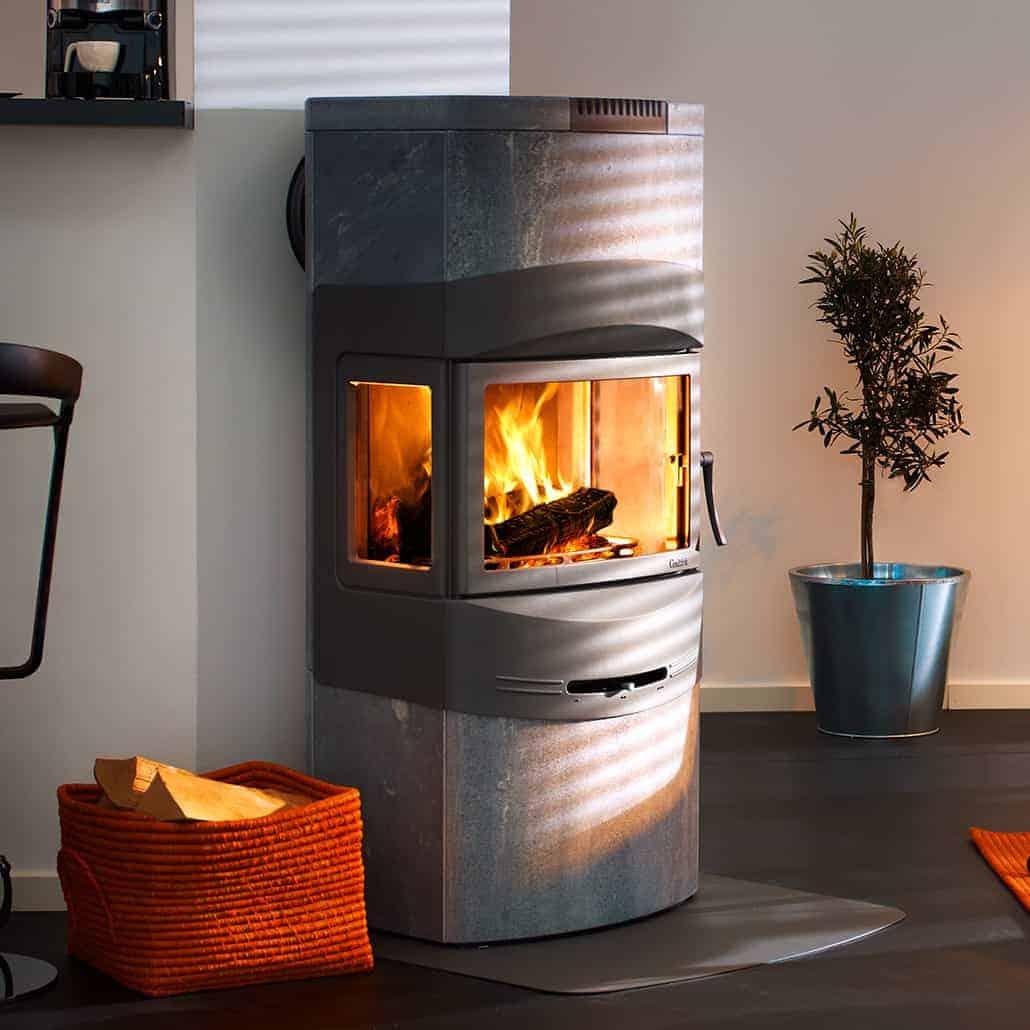 Artisan Contura 480 Soapstone Wood Burning Stove - Artisan Fireplace Design
