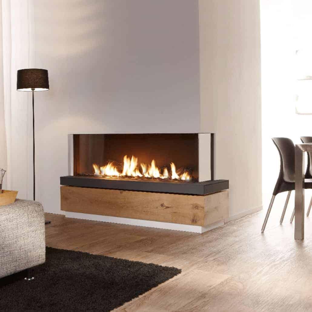 Artisan Bidore 140 Xl Corner Glass Fronted Fire Artisan