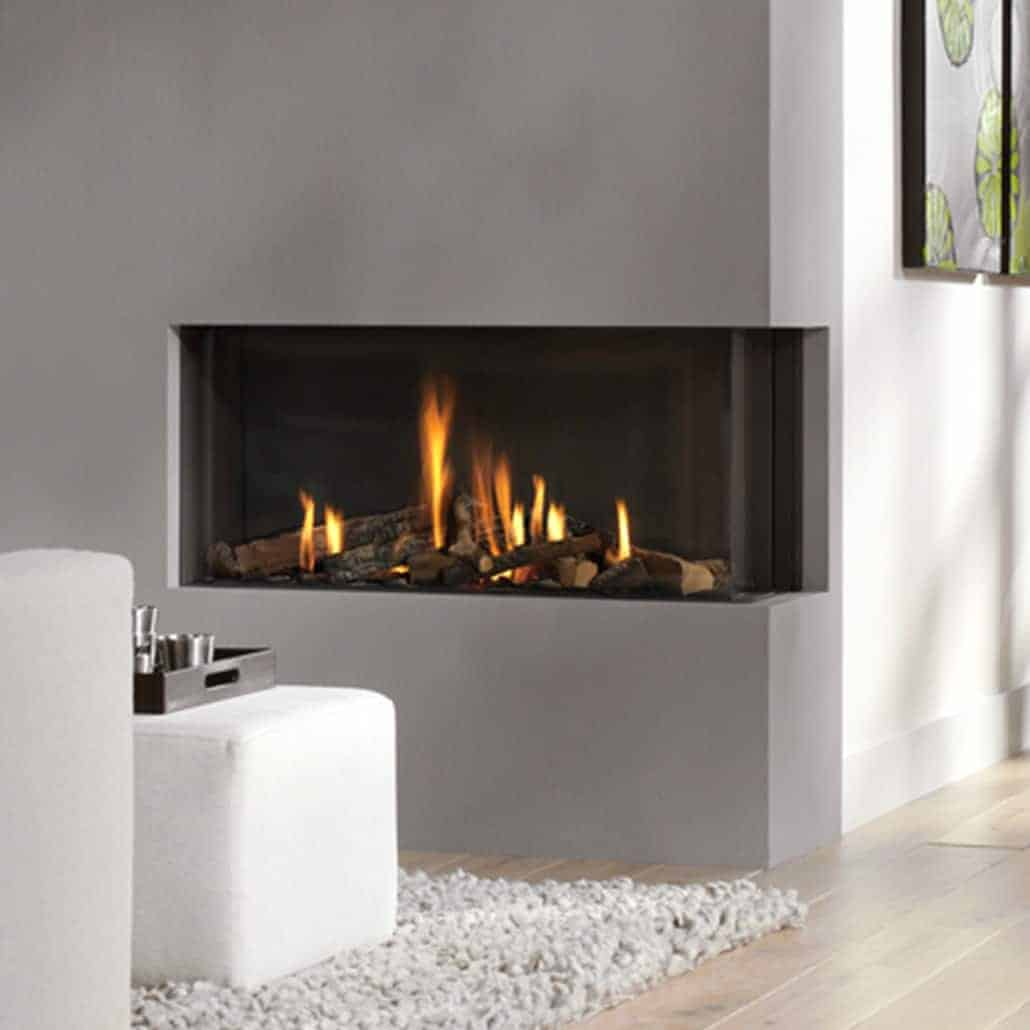 Artisan Bidore 95 Large Glass Fronted Gas Fire Artisan Fireplace Design