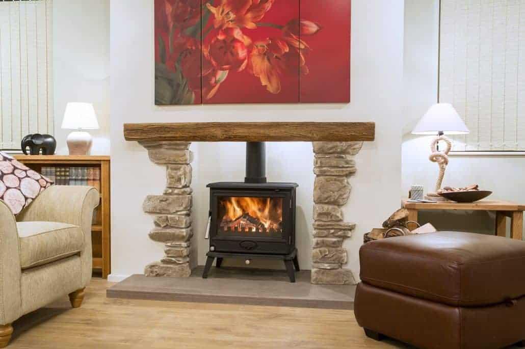 Artisan Bradford Beam Amp Stone Inglenook Fireplace